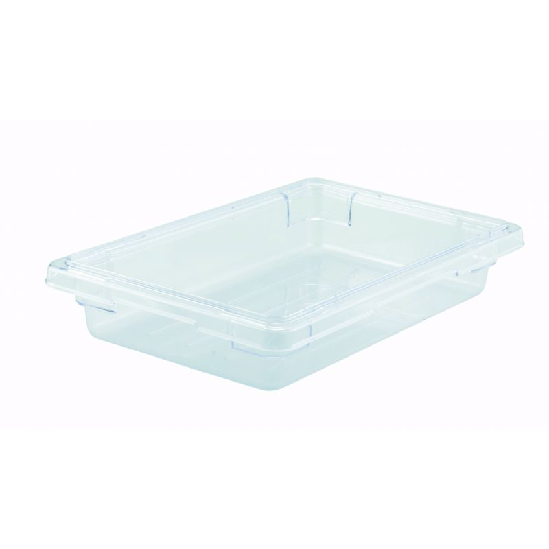 Food Storage Box, 12 inches x 18 inches x 3-1/2 inches, Clear, PC