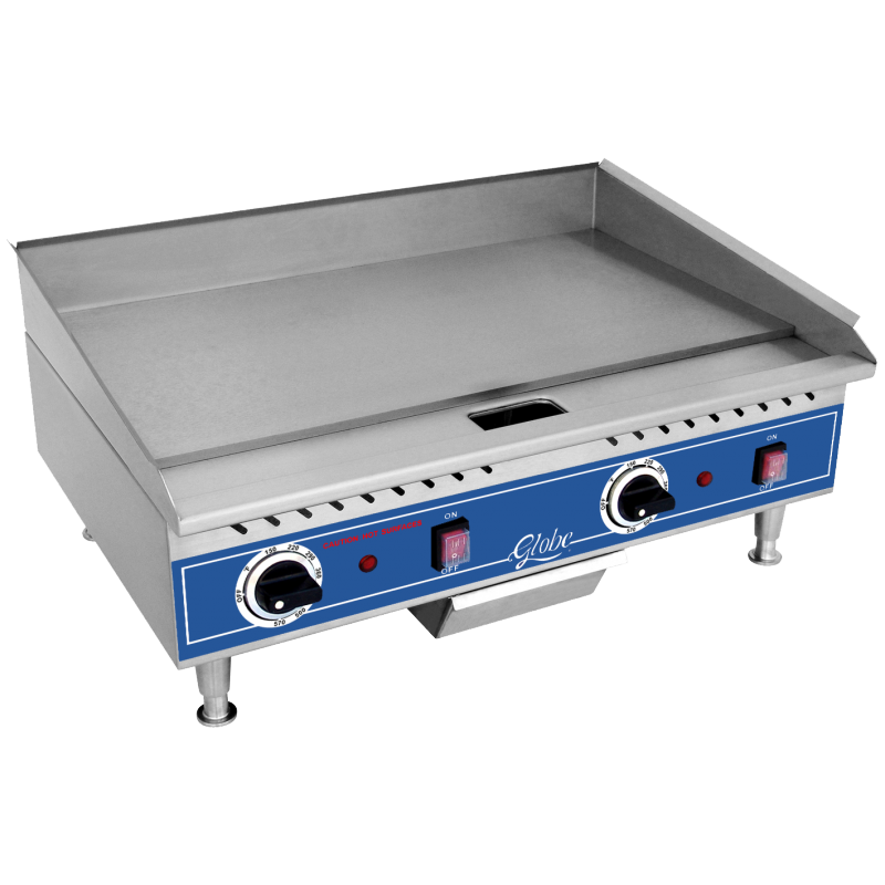 Globe Electric Counterop Griddle - 24 inches