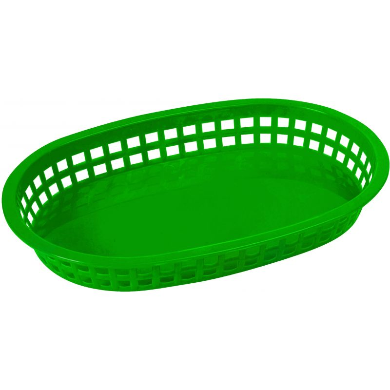 Platter Baskets, Oval, 10-3/4 inches x 7-1/4 inches x 1-1/2 inches, Green