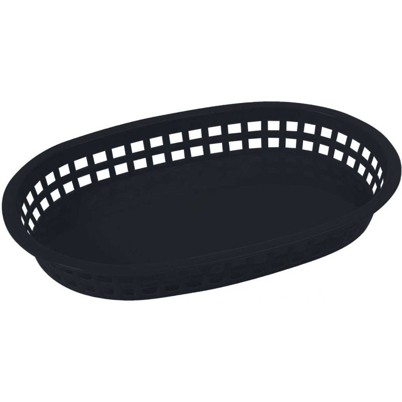 Platter Baskets, Oval, 10-3/4 inches x 7-1/4 inches x 1-1/2 inches, Black
