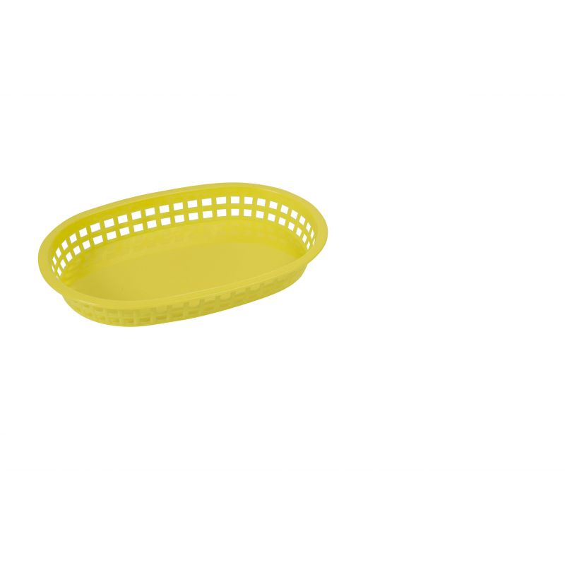Platter Baskets, Oval, 10-3/4 inches x 7-1/4 inches x 1-1/2 inches, Yellow