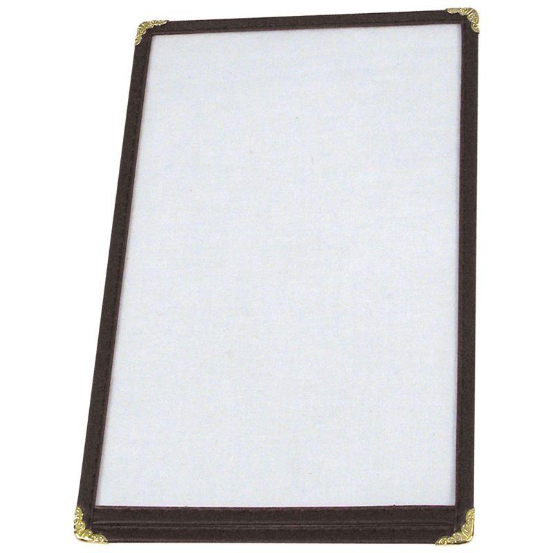 Menu Cover, Single, 9-5/16 inches x 12-1/8 inches, Black