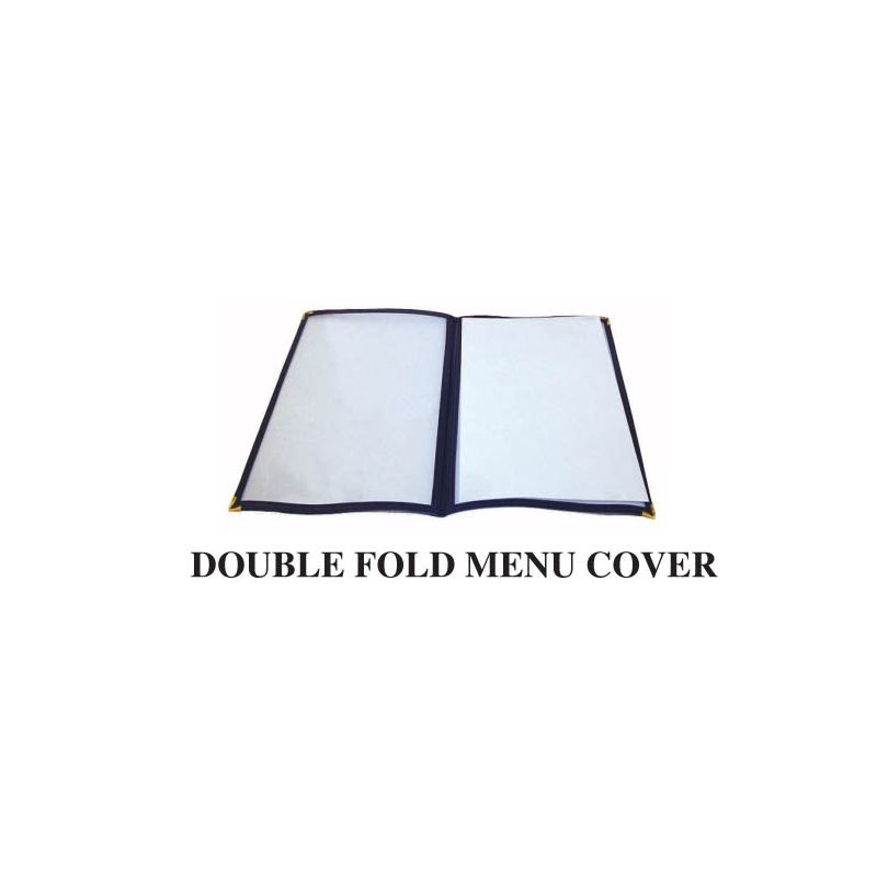 Menu Cover, Double Fold, 9-3/8 inches x 12-1/8 inches, Blue