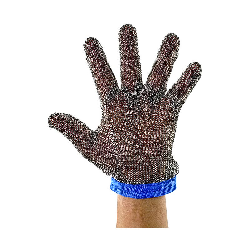 Protective Mesh Glove, Large, Reversible, Blue