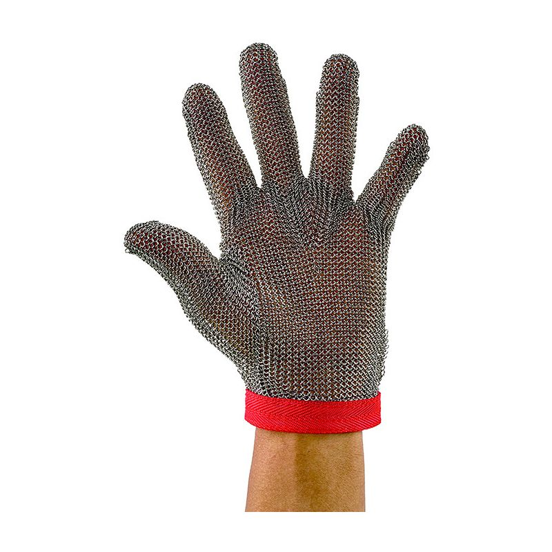 Protective Mesh Glove, Medium, Reversible, Red