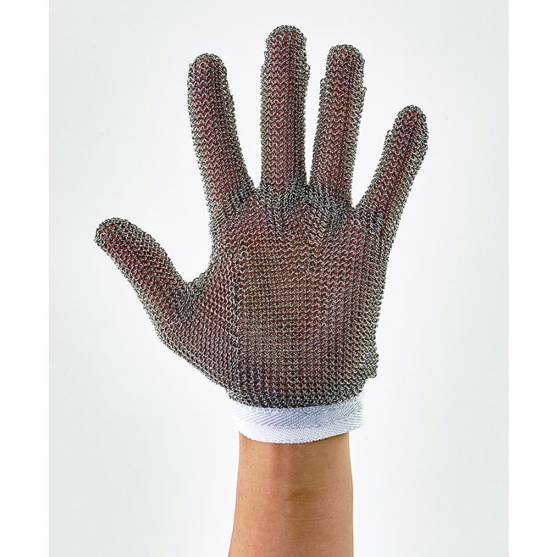 Protective Mesh Glove, Small, Reversible, White