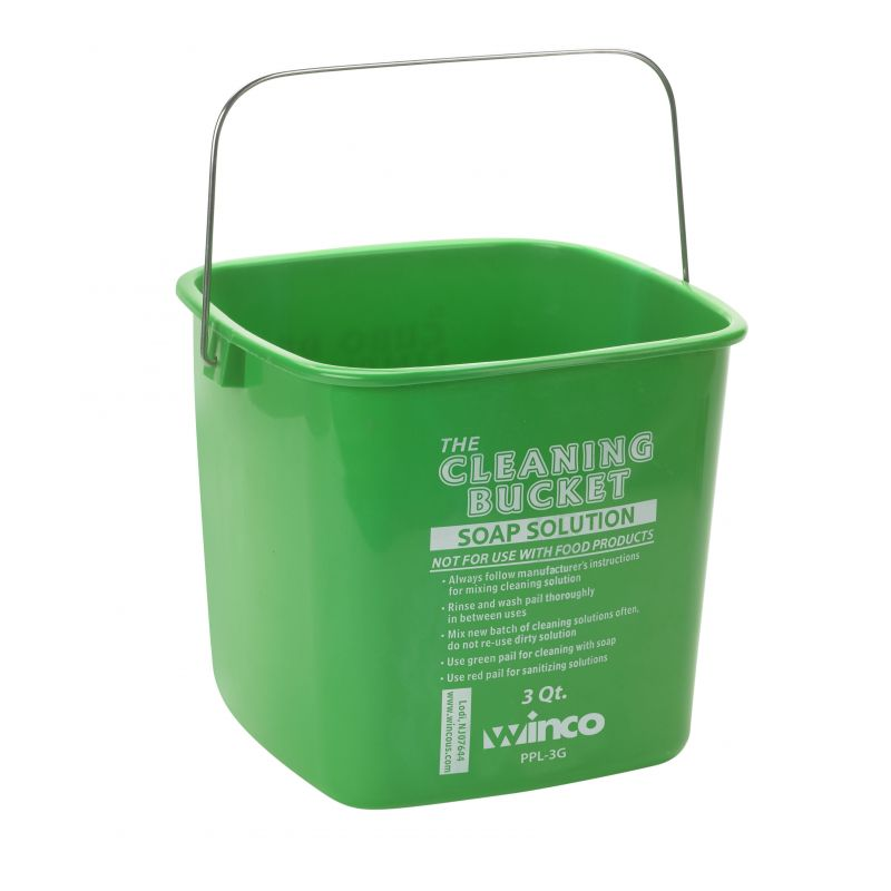 3qt Cleaning Bucket, Green Soap Solution