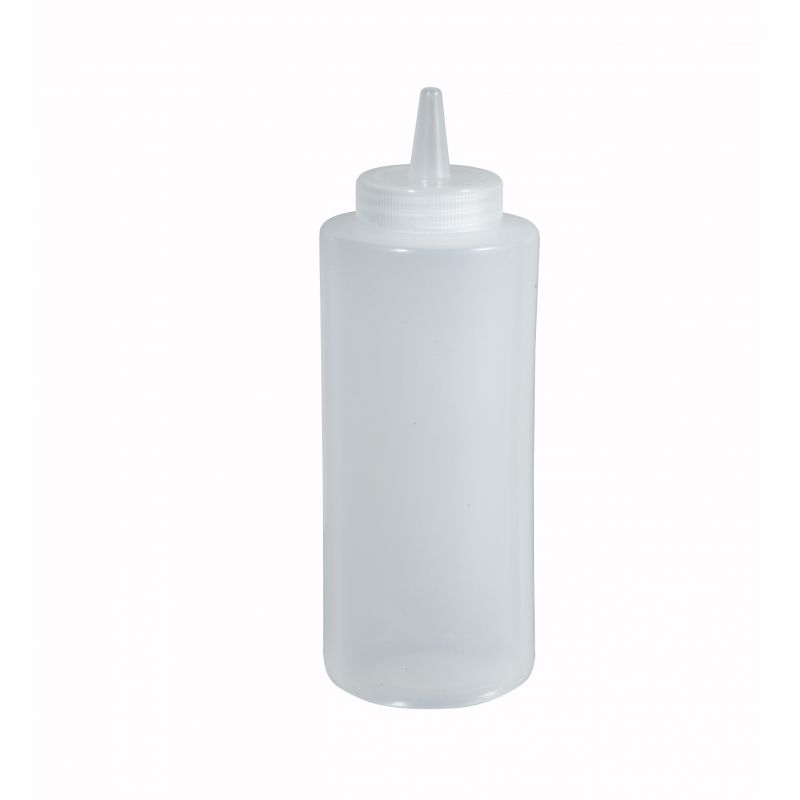 8oz Squeeze Bottles, Clear, 6pcs/pk