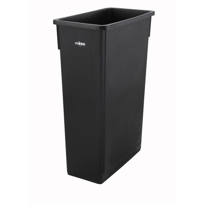 23gal Slender Trash Can, Black