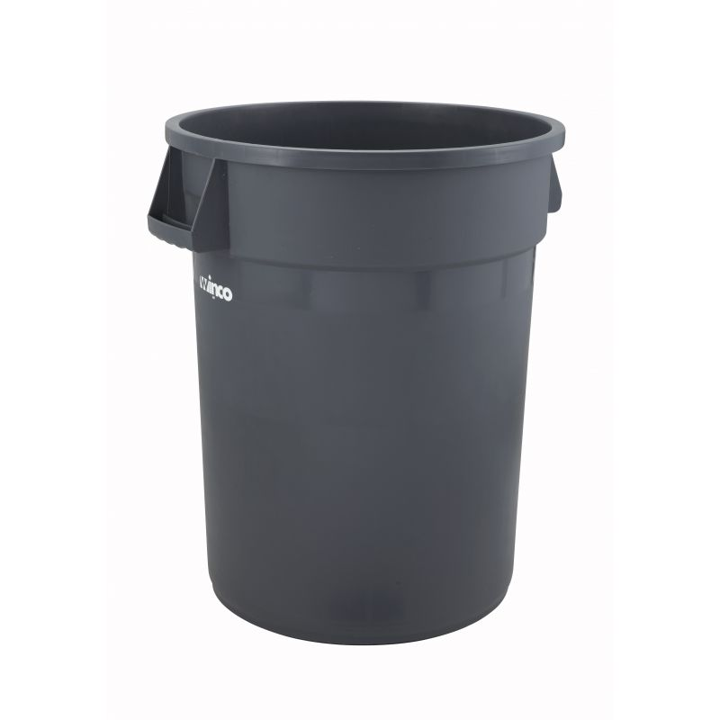 32gal Round Trash Can, Gray