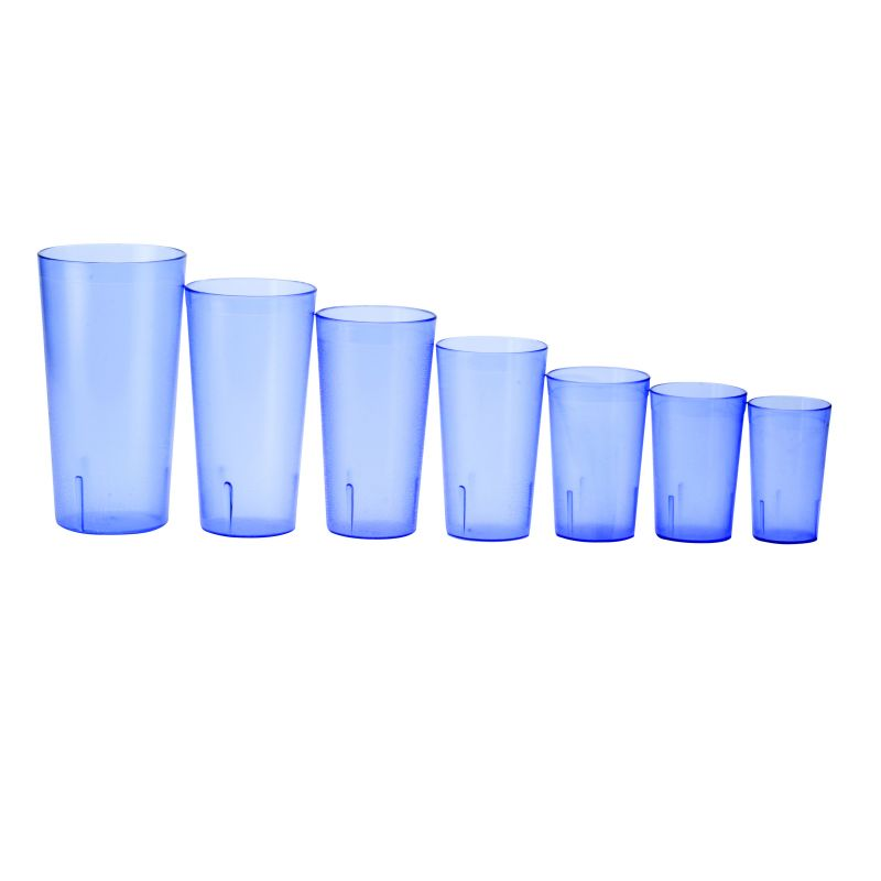 5oz Pebbled Tumblers, Red