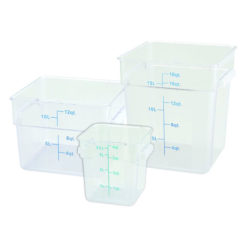 2qt Square Storage Container, Translucent, PP