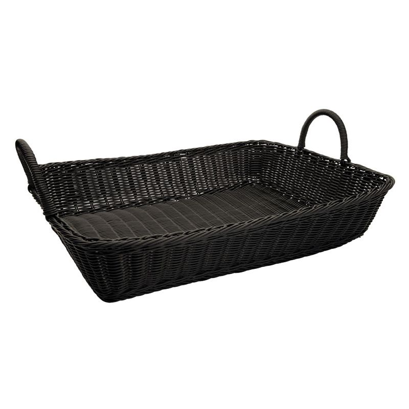 Poly Woven Baskets, Rectangular w/Hdls, 19 inches x 14 inches x 4 inches, 3pcs/pk