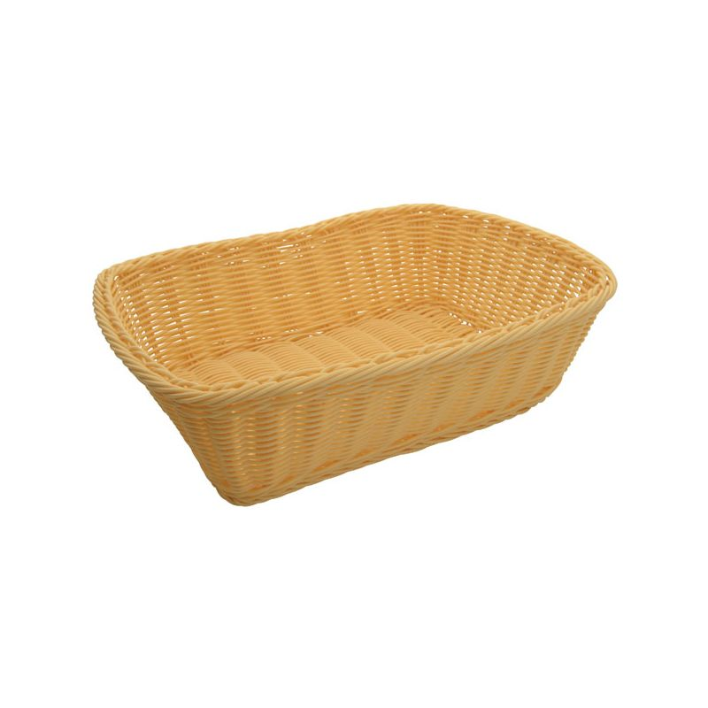 Poly Woven Baskets, Rectangular, 11-1/2 inches x 8-1/2 inches x 3-1/2 inches, Natural, 12pcs/pk