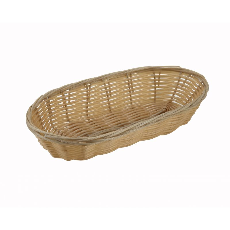 Poly Woven Baskets, Oval, 9 inches x 4-1/4 inches x 2 inches, Natural