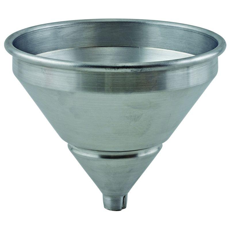 1 pt Spun Aluminum Funnel w/Strainer, 5-1/4 inches Dia x 5-1/4 inchesH
