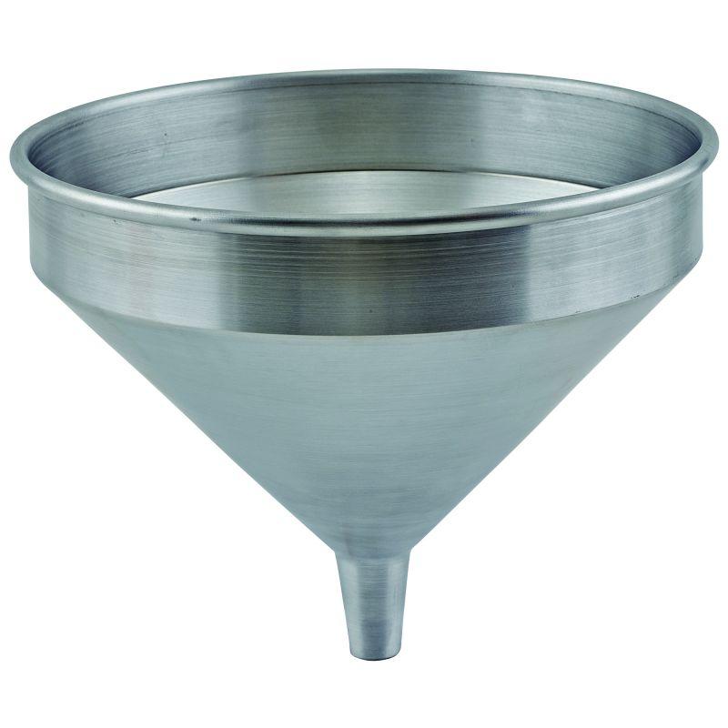 2 qt Spun Aluminum Funnel, 9-1/8 inches Dia x 7-3/4 inchesH