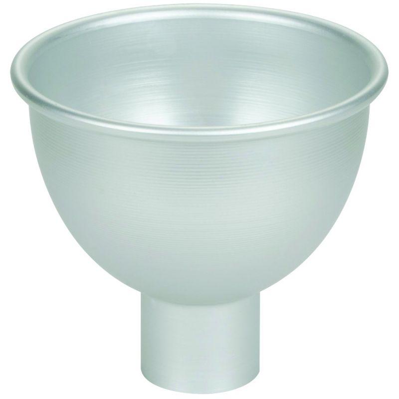 4 qt Spun Aluminum Funnel, 8-3/4 inches Dia x 8 inchesH x 3 inches Dia Neck