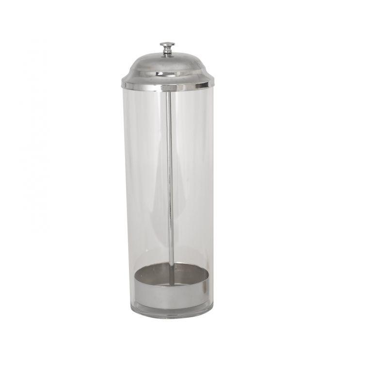 Straw Dispenser, PC Cylinder, S/S Top