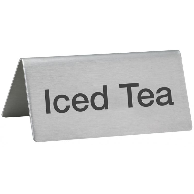 Tent Sign,  inchesIced Tea inches, S/S