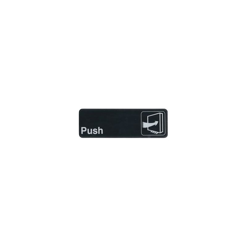 Information Sign,  inchesPush inches, 3 inches x 9 inches, Black