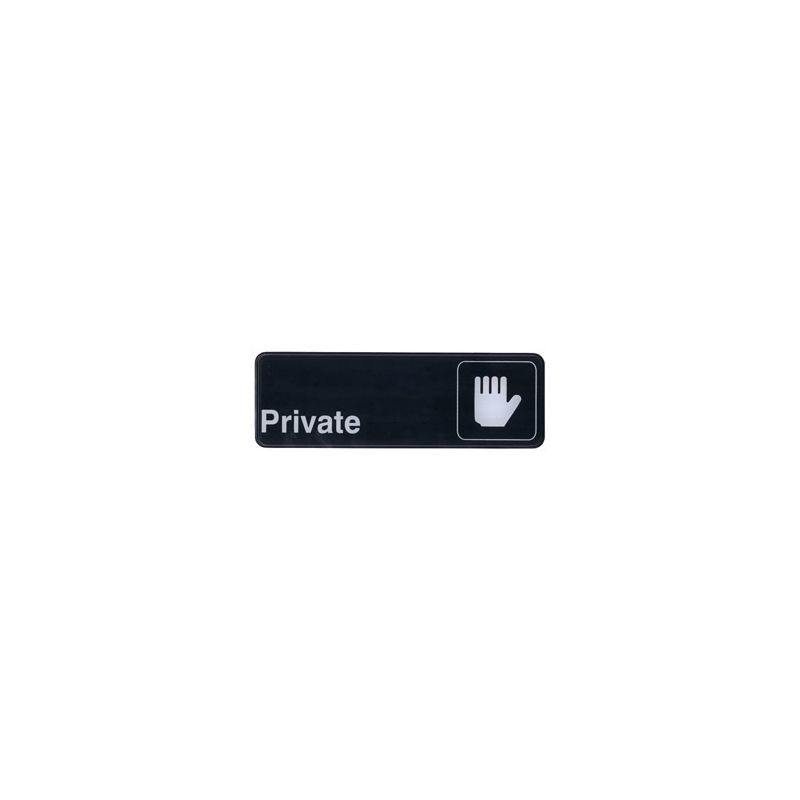 Information Sign,  inchesPrivate inches, 3 inches x 9 inches, Black