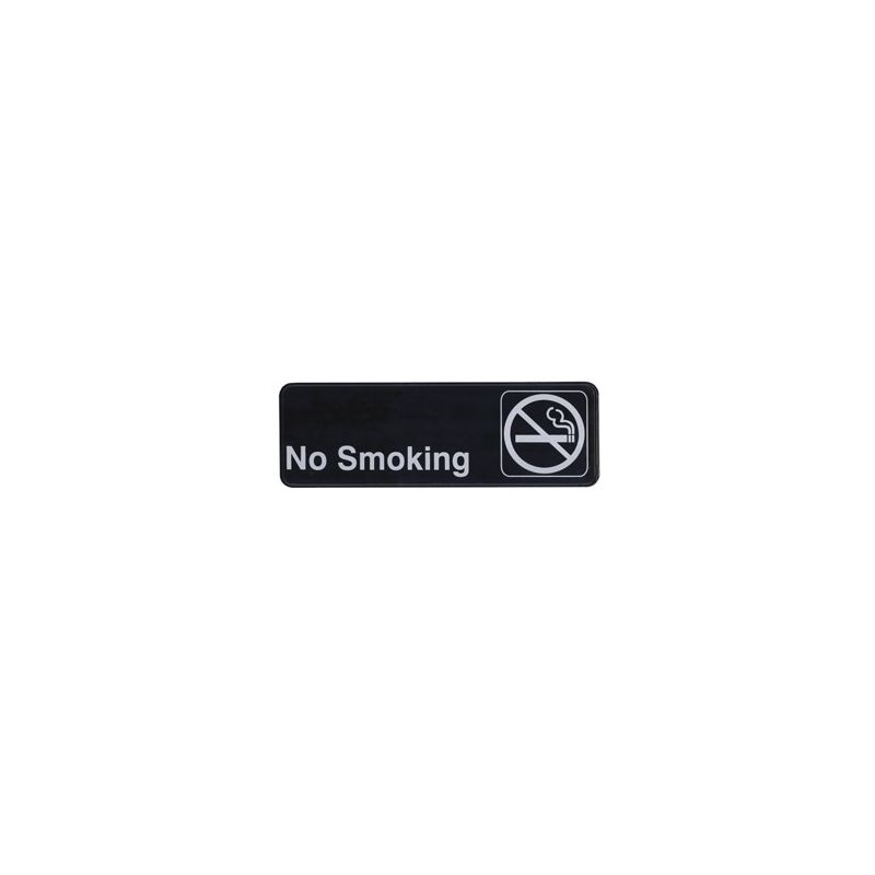 Information Sign,  inchesNo Smoking inches, 3 inches x 9 inches, Black