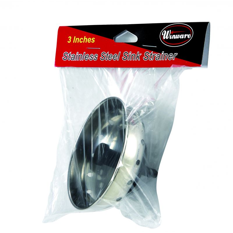 Sink Strainer, 3 inches, S/S