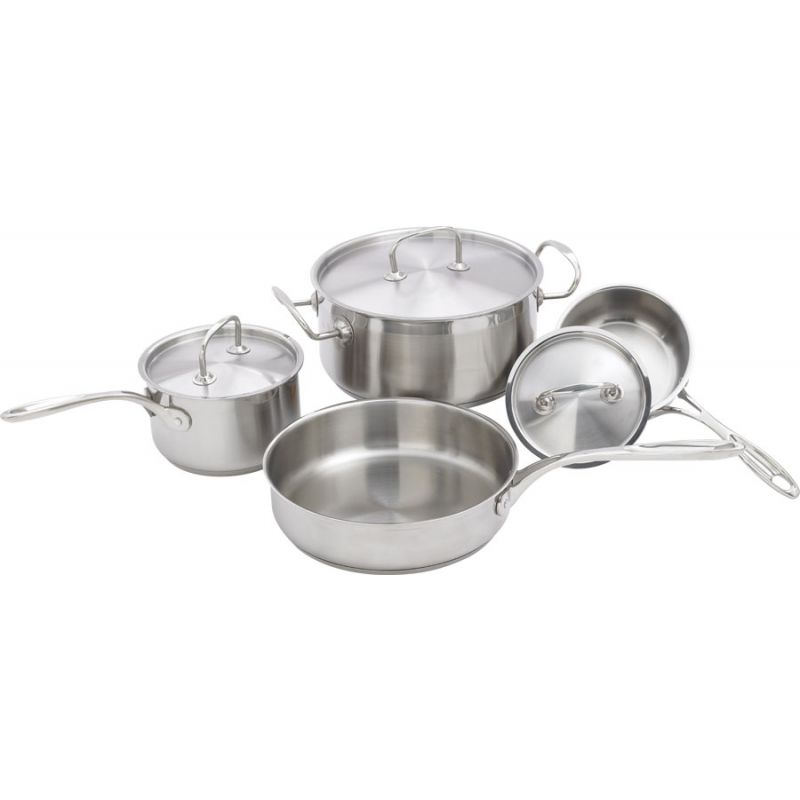 7-piece Cookware Set, S/S