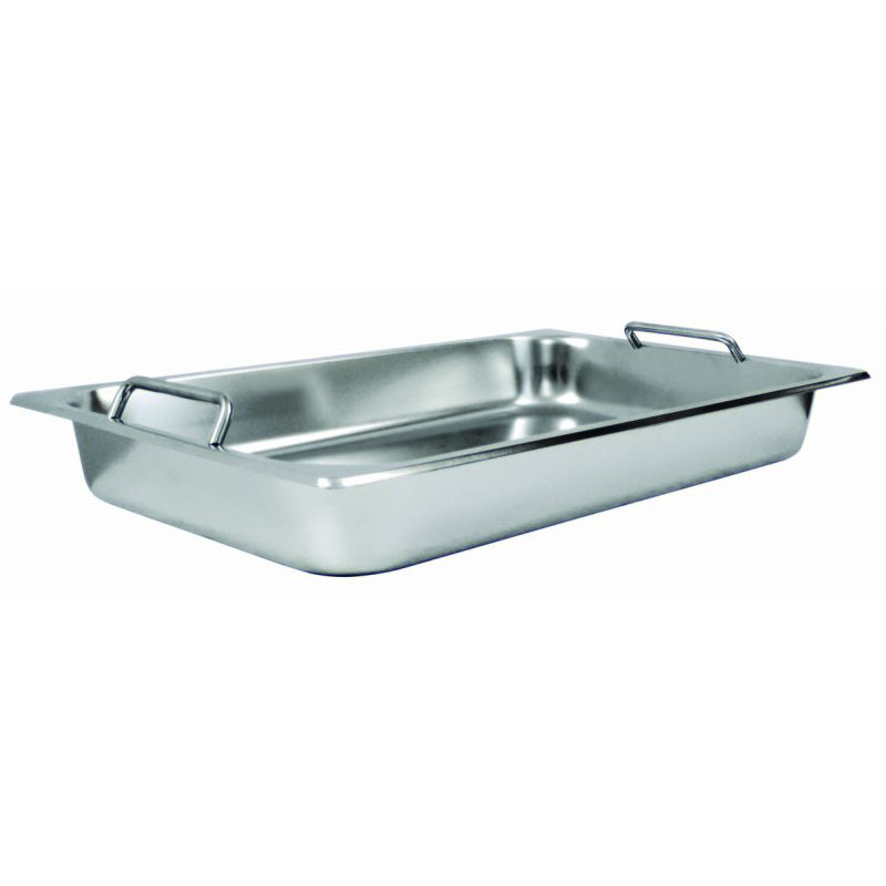 Steam Pan w/Hdls, Full-size, S/S