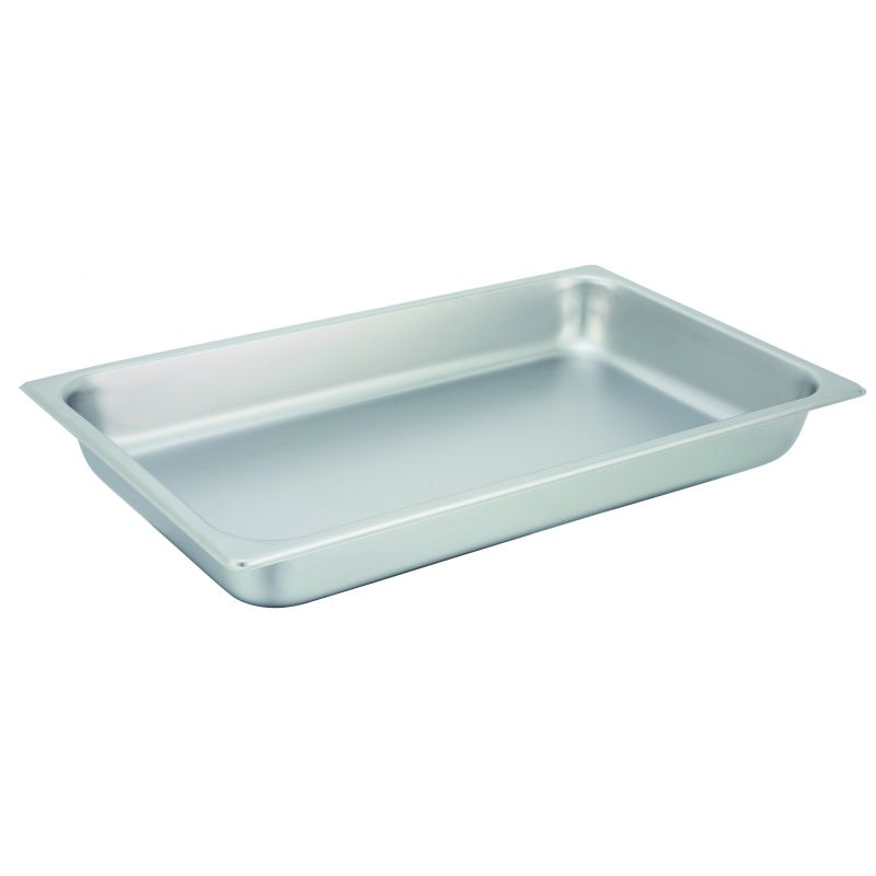 Straight-sided Steam Pan, Full-size, 2-1/2 inches, 25 Ga S/S