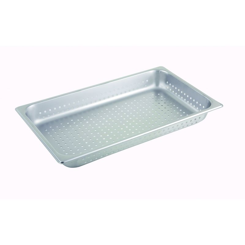 Perforated Steam Pan, Full-size, 2-1/2 inches, S/S