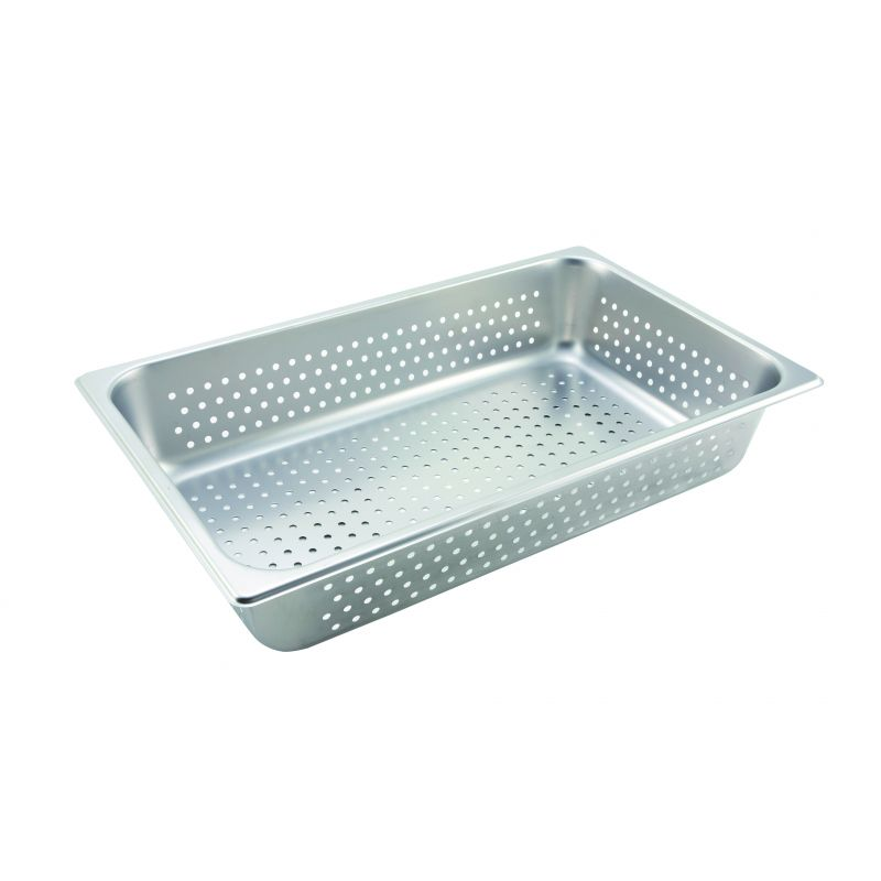 Perforated Steam Pan, Full-size, 4 inches, S/S