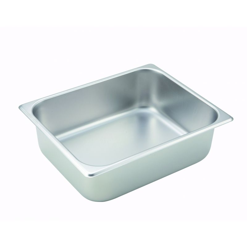 Straight-sided Steam Pan, Half-size, 4 inches, 25 Ga S/S