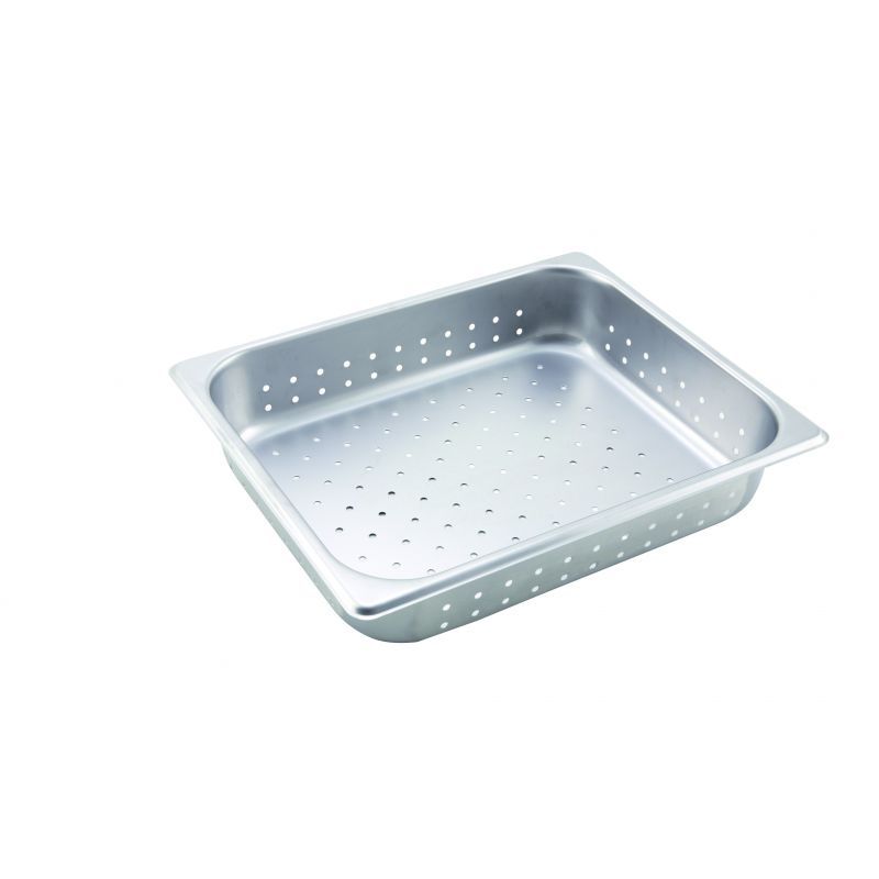 Perforated Steam Pan, Half-size, 2-1/2 inches, S/S