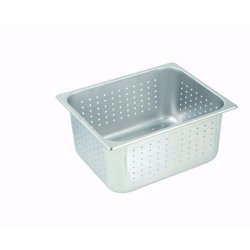 Perforated Steam Pan, Half-size, 6 inches, S/S