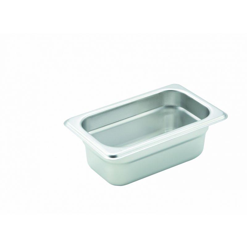 Anti-jam Steam Pan, 1/9 Size, 2-1/2 inches, 22 Ga S/S