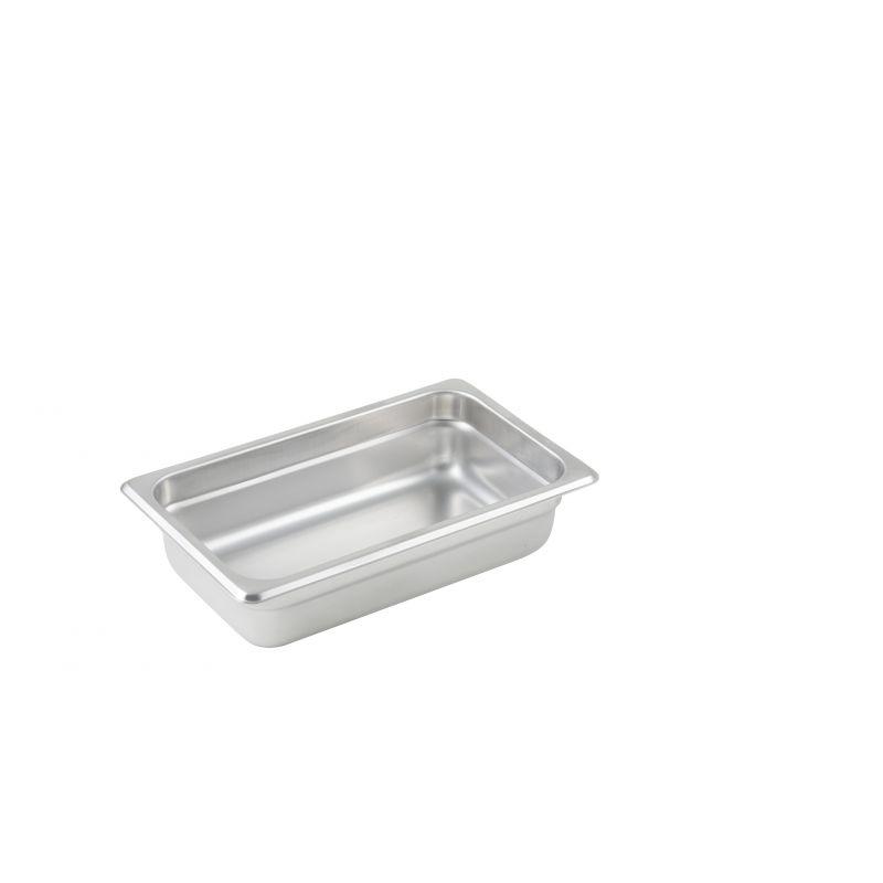 Anti-jam Steam Pan, 1/4 Size, 2-1/2 inches, 25 Ga S/S