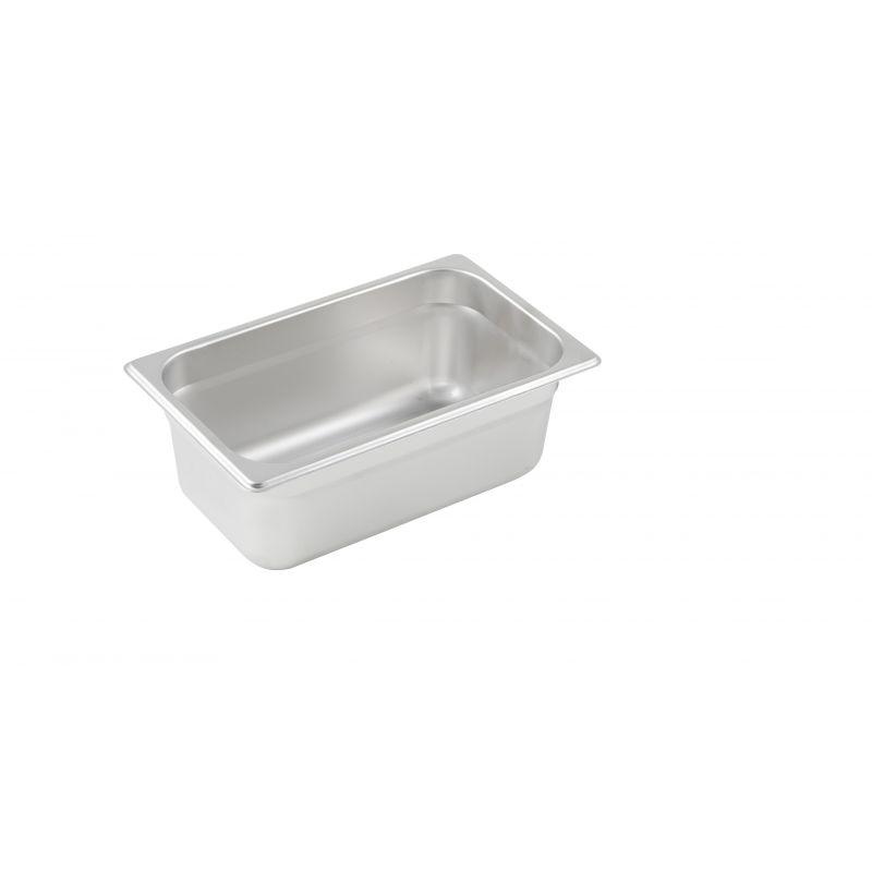 Anti-jam Steam Pan, 1/4 Size, 4 inches, 25 Ga S/S