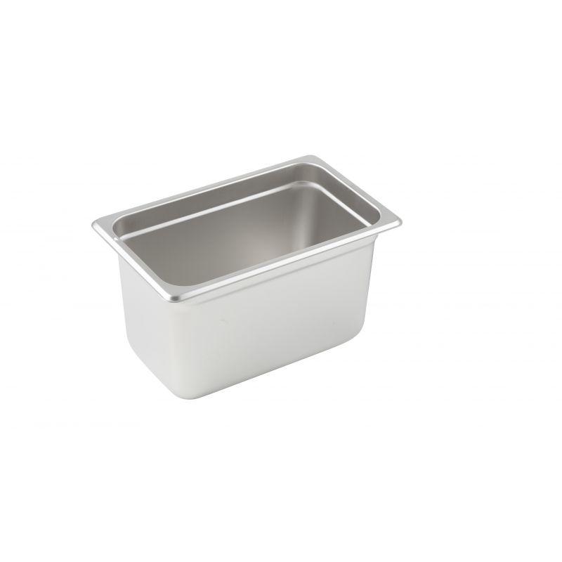 Anti-jam Steam Pan, 1/4 Size, 6 inches, 25 Ga S/S