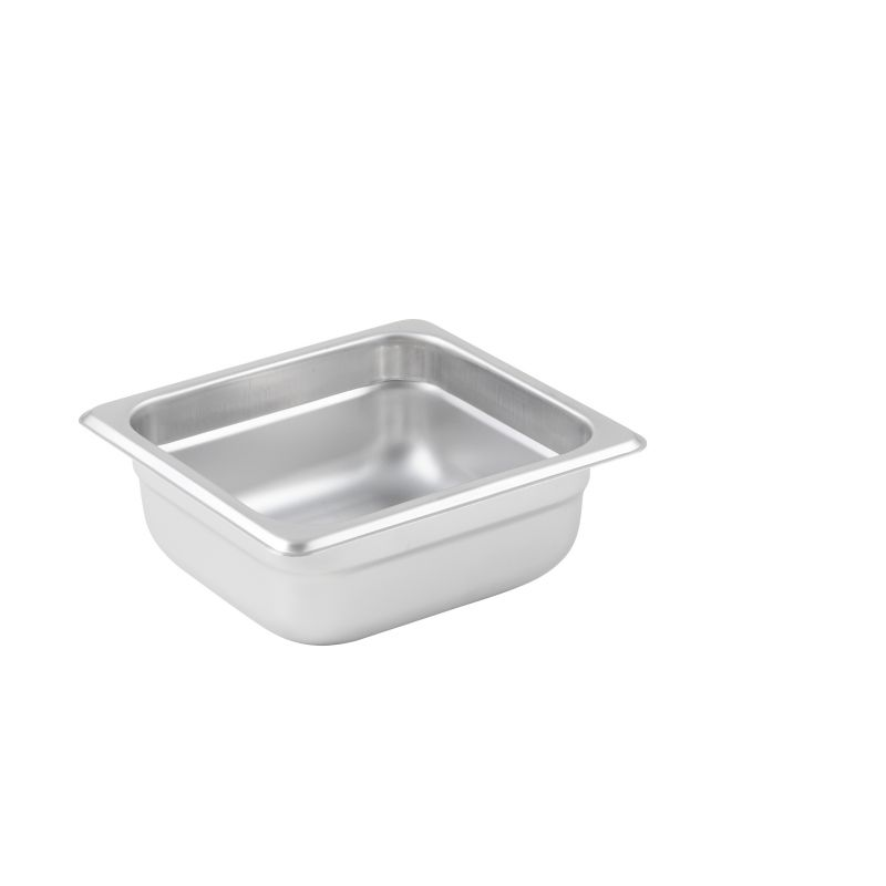 Anti-jam Steam Pan, 1/6 Size, 2-1/2 inches, 25 Ga S/S