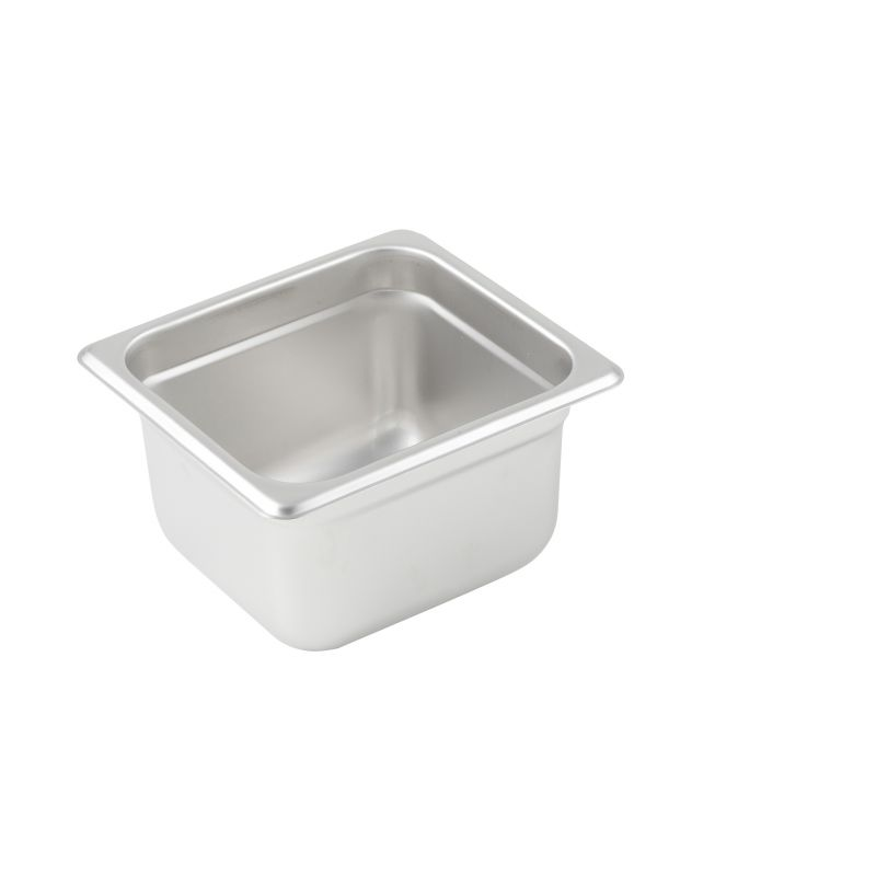 Anti-jam Steam Pan, 1/6 Size, 4 inches, 25 Ga S/S