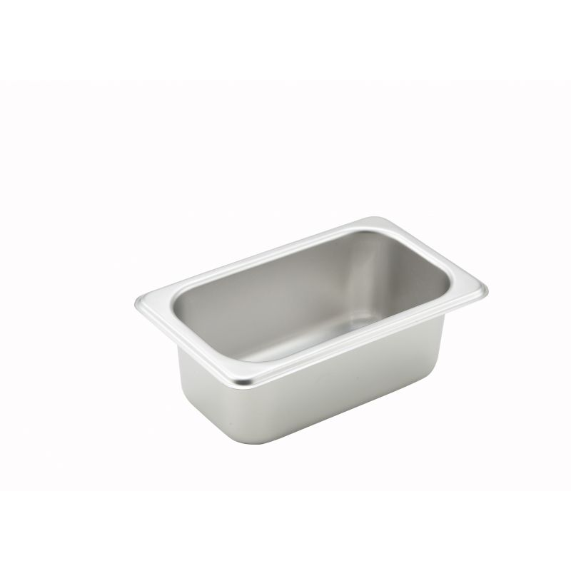 Straight-sided Steam Pan, 1/9 Size, 2-1/2 inches, 25 Ga S/S