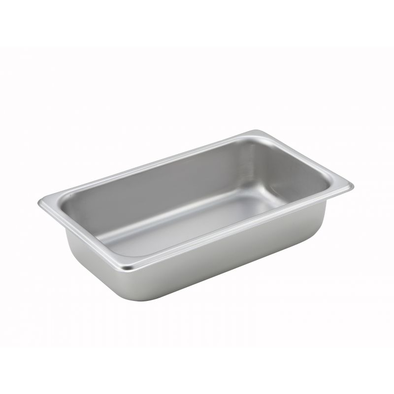 Straight-sided Steam Pan, 1/4 Size, 2-1/2 inches, 25 Ga S/S