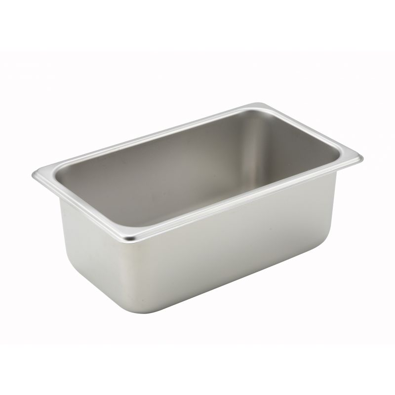 Straight-sided Steam Pan, 1/4 Size, 4 inches, 25 Ga S/S