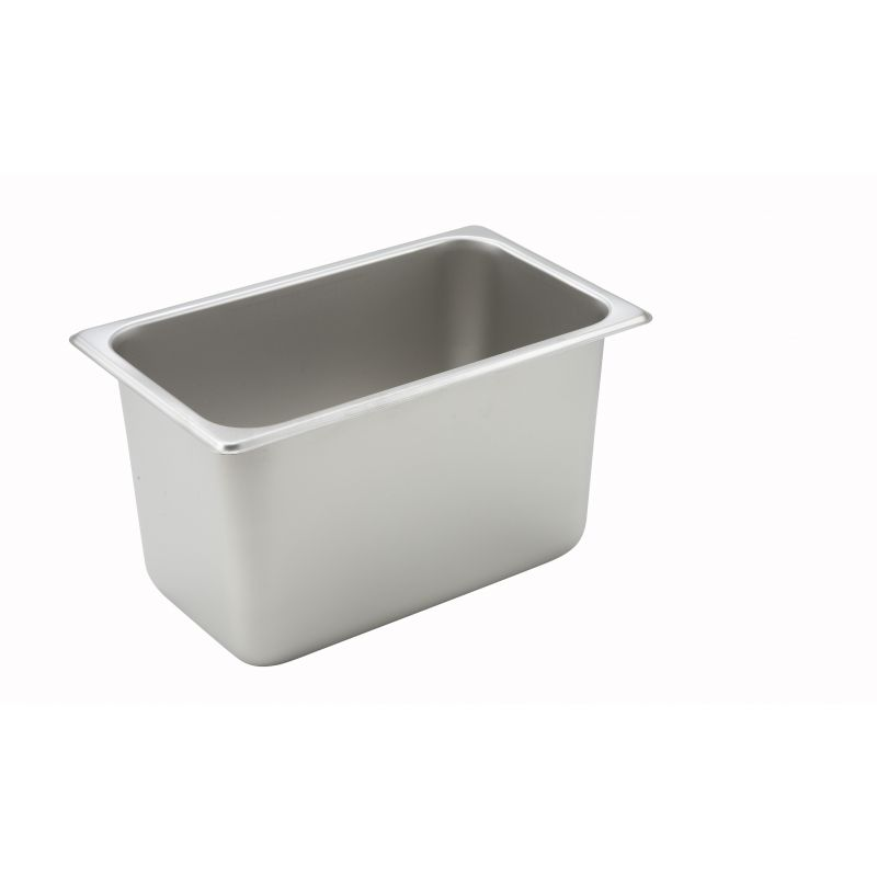 Straight-sided Steam Pan, 1/4 Size, 6 inches, 25 Ga S/S