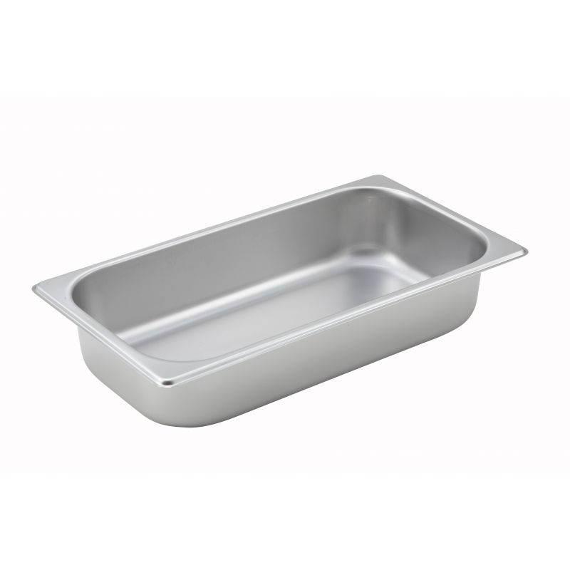 Straight-sided Steam Pan, 1/3 Size, 2-1/2 inches, 25 Ga S/S