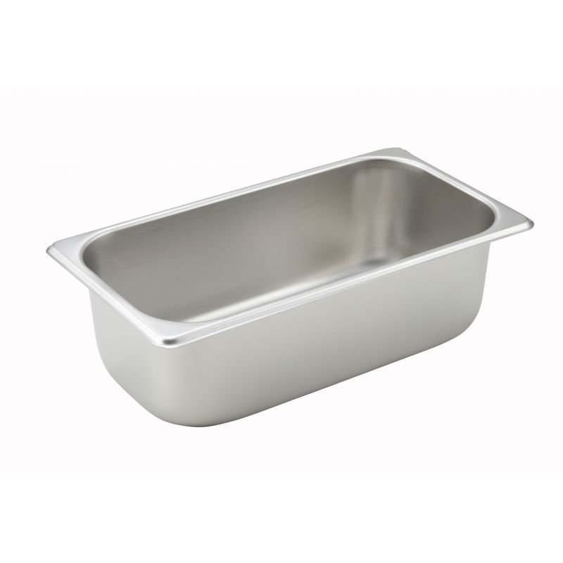 Straight-sided Steam Pan, 1/3 Size, 4 inches, 25 Ga S/S