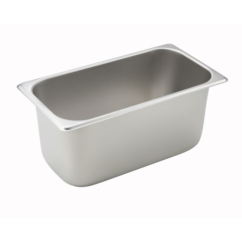 Straight-sided Steam Pan, 1/3 Size, 6 inches, 25 Ga S/S