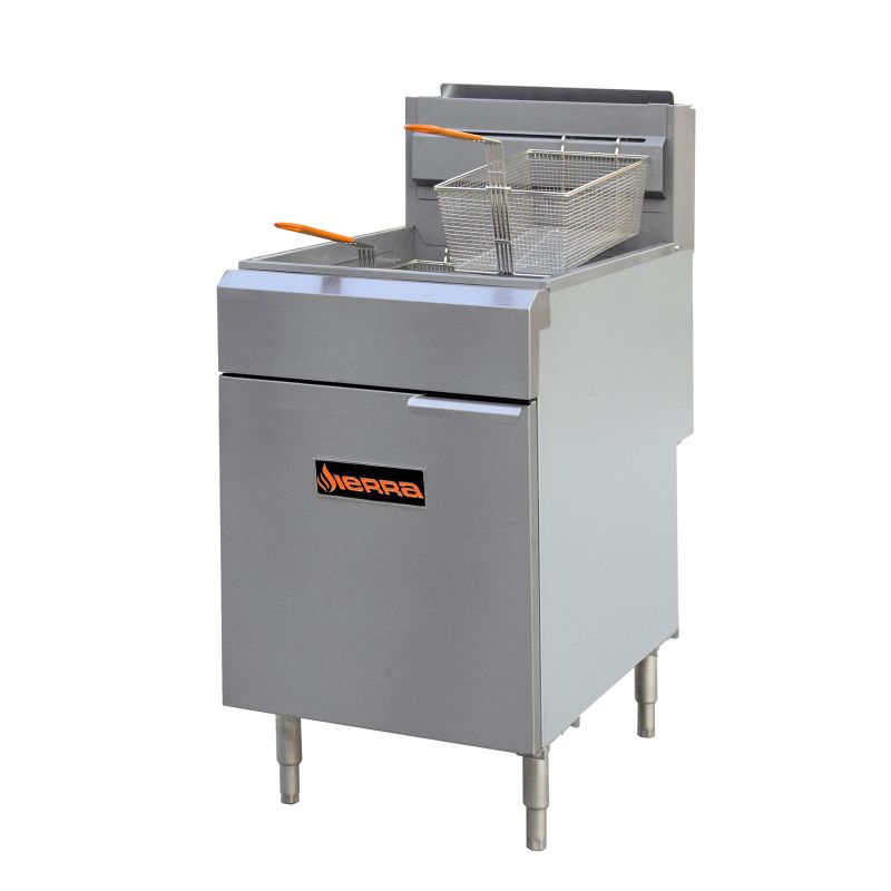 Fryer, gas, 21 W, 75-80 lbs. capacity